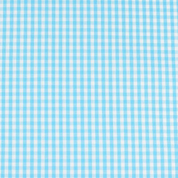 Vichy baumwolle türkis weiß, öko-tex standard 100