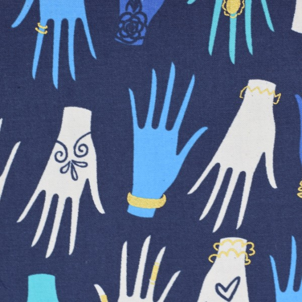 Cotton and Steel - Beauty shop - Manicure Navy - Melody Miller