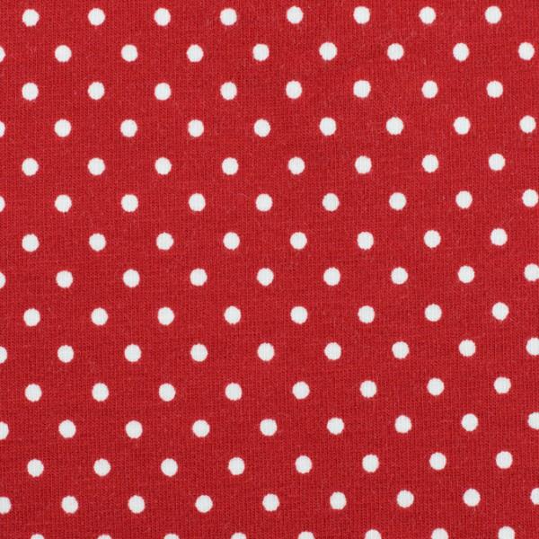 Jersey Punkte rot, Öko Tex Standard 100