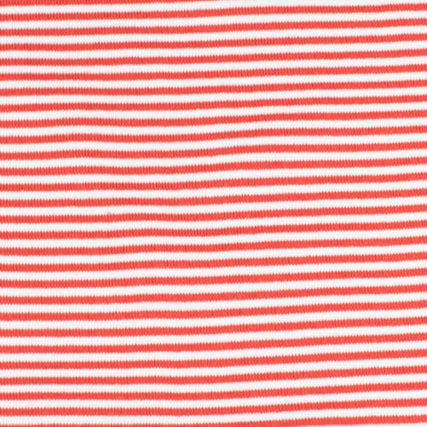 Bündchenware ringel rot/weiß , Öko Tex Standard 100