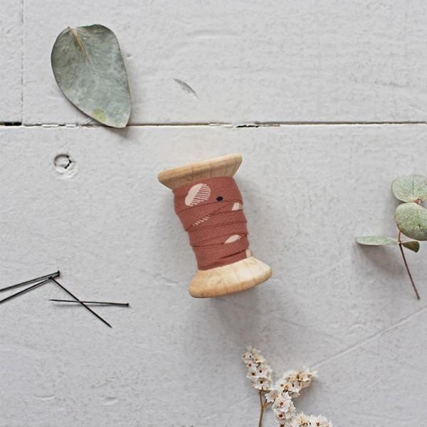 Schrägband Eco Vero Viscose Seed Chestnut Fabric
