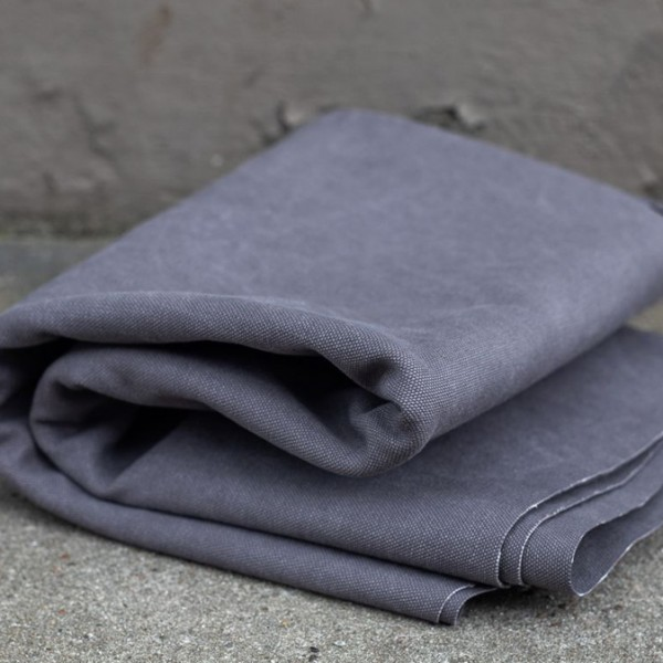 HEAVY WASHED CANVAS, 17 oz - Pewter (Zinn)