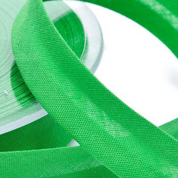 Schrägband uni - grasgrün