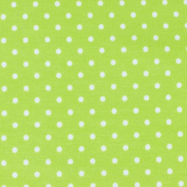 Jersey Punkte grün, Öko Tex Standard 100