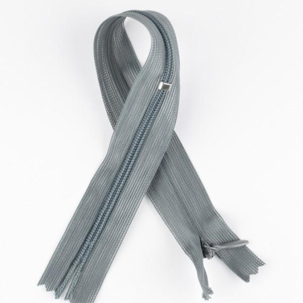 Reißverschluss nahtverdeckt grau
