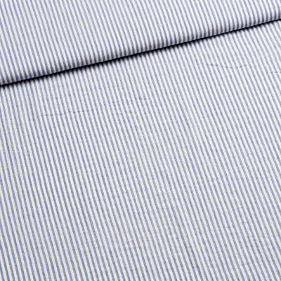 Baumwolle blau/weiß gestreift für das Top Lauren