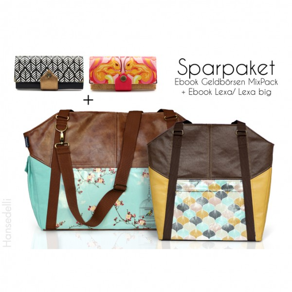 Sparpaket Ebook Lexa + Geldbörsen Mix Pack