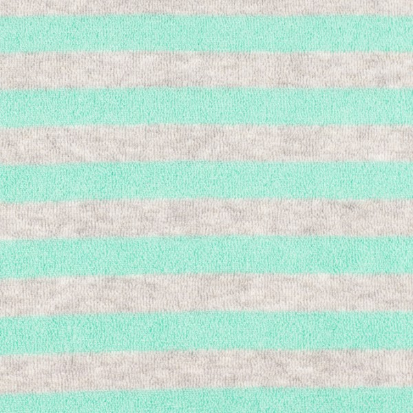 Frottee gestreift mint/grau swafing öko tex standard 100