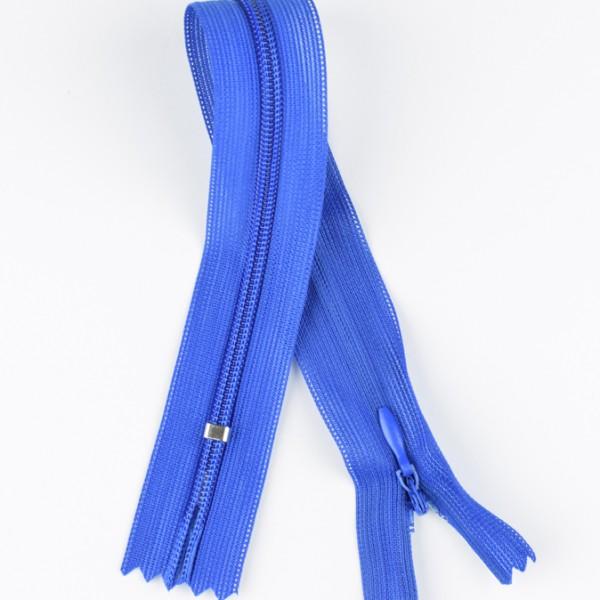 Reißverschluss nahtverdeckt blau