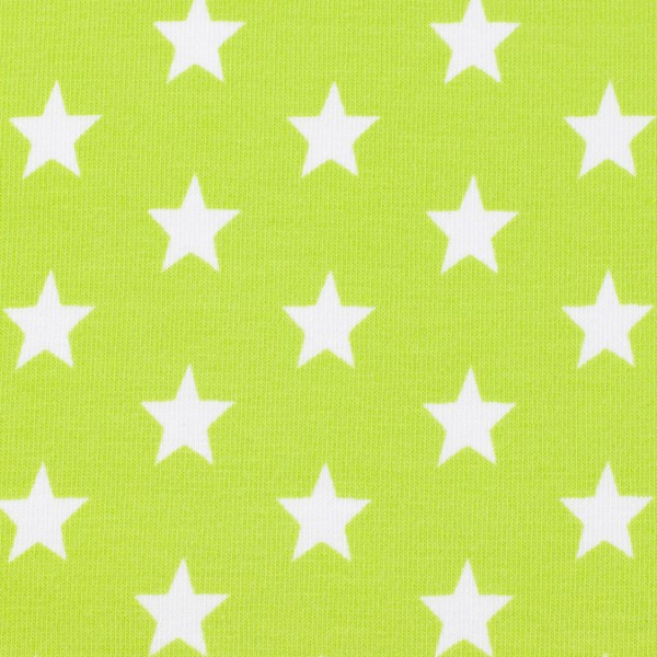 Jersey Sterne hellgrün, Öko Tex Standard 100