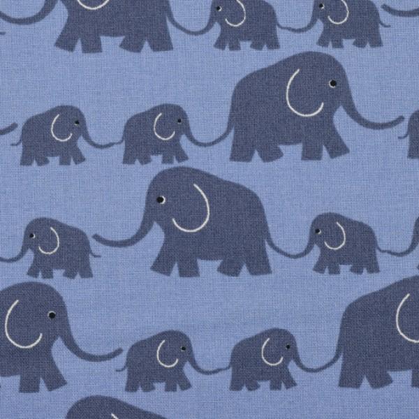 Westfalenstoffe Junge Linie Elefanten blau