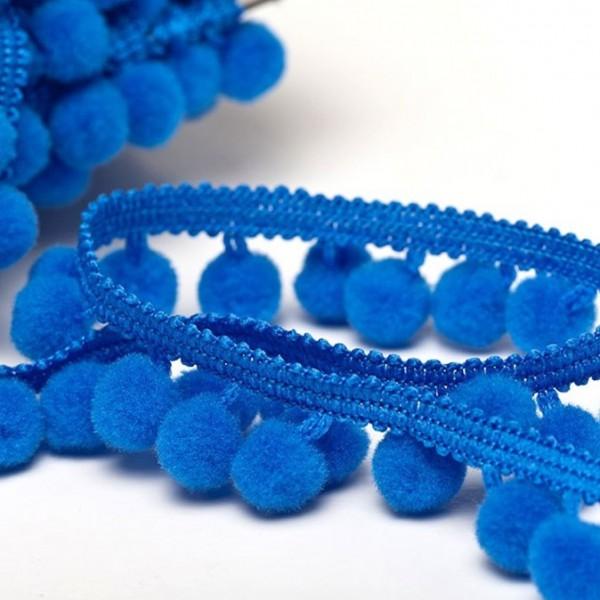 Pomponborte günstig online kaufen stoffe köln mittel blau