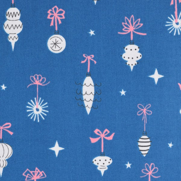 Cotton and Steel - Ornamentals Teal blau