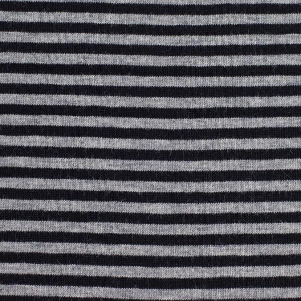 Jersey streifen schwarz/grau, Öko Tex Standard 100