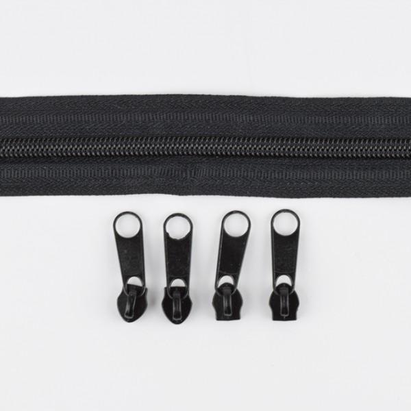 5mm Endlos-Reißverschluss schwarz