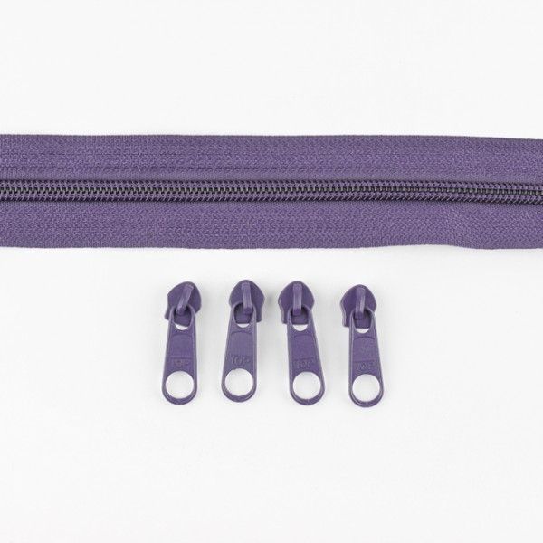 5mm Endlos-Reißverschluss lila