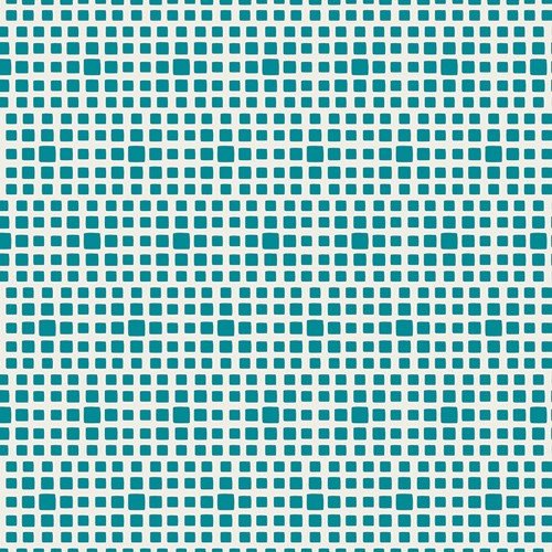 Baumwolle Squared Elements - Teal