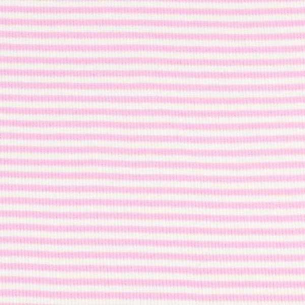 Bündchenware ringel rosa/weiß , Öko Tex Standard 100