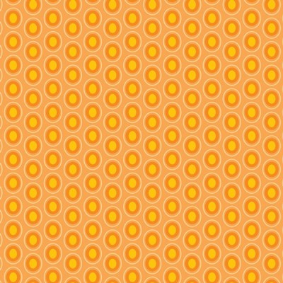 Baumwolle Oval Elements - Papaya Orange