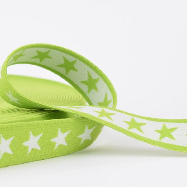 Gummiband Sterne 20mm grün