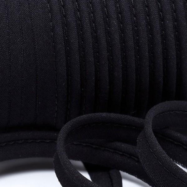 Paspelband uni - schwarz