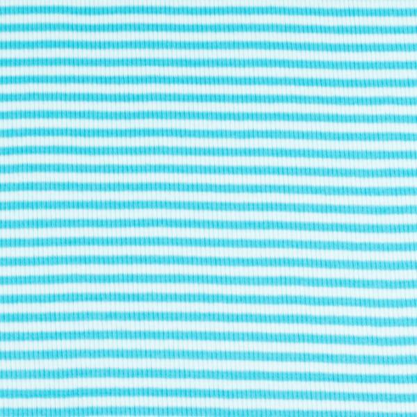 Bündchenware ringel hellblau türkis , Öko Tex Standard 100