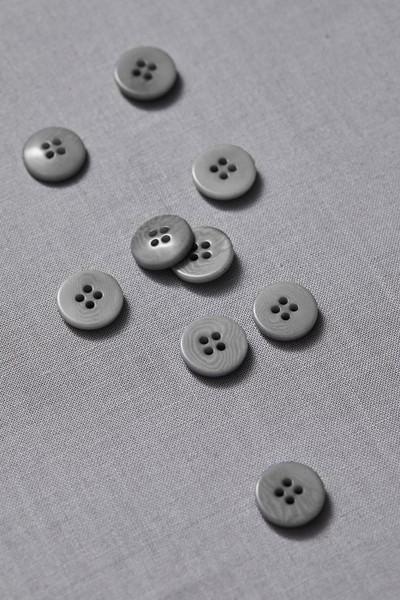 Plain Corozo Button 15 mm - Sky