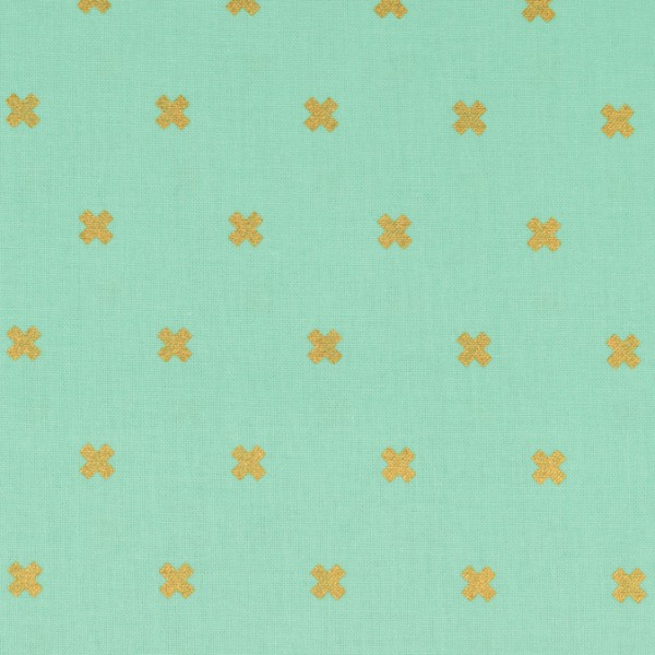 Cotton and Steel Basics mint gold