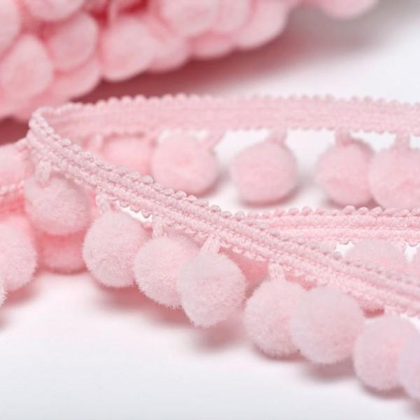 Pomponborte günstig online kaufen stoffe köln mittel rosa
