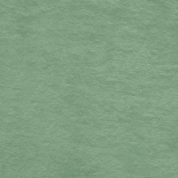 Strickfrottee Stoff - uni - green bay