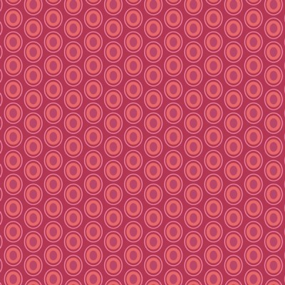 Baumwolle Oval Elements - Cranberry