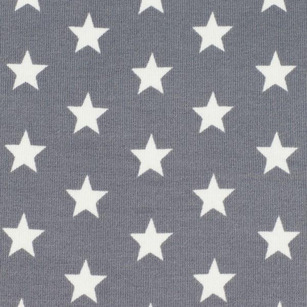 Jersey Sterne grau, Öko Tex Standard 100