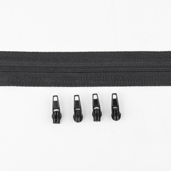 3mm Endlos-Reißverschluss schwarz