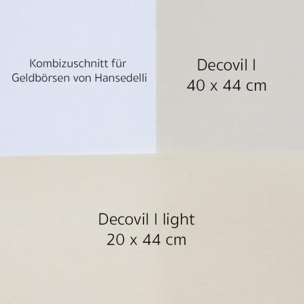 Kombizuschnitt Decovil I und Decovil I light Geldbörse Hansedelli