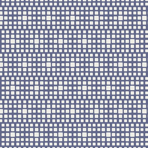 Baumwolle Squared Elements - Blueberry