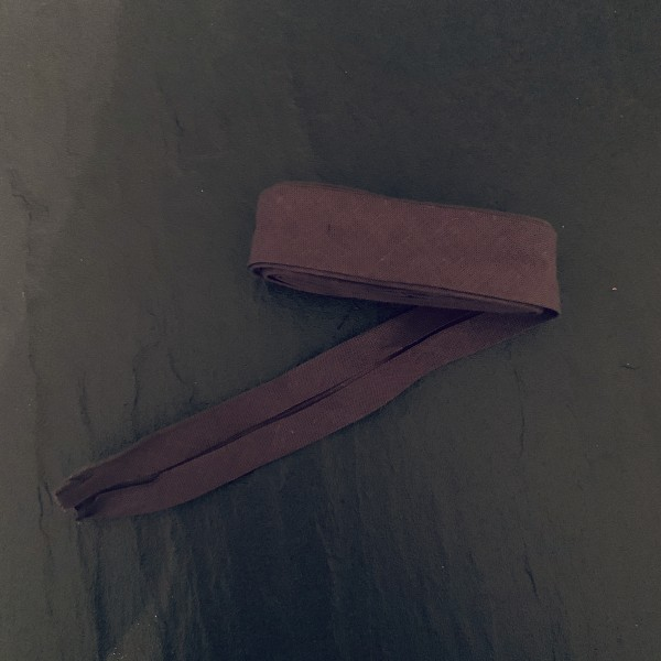 Schrägband uni anthrazit grau