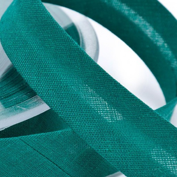 Schrägband smaragdgrün, Stoffe Köln