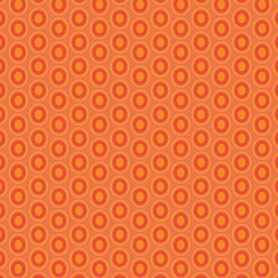 Baumwolle Oval Elements - Tangerine Tango