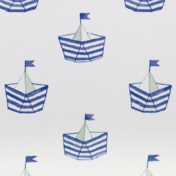 Jersey Nautical Baby, Schiffchen blau