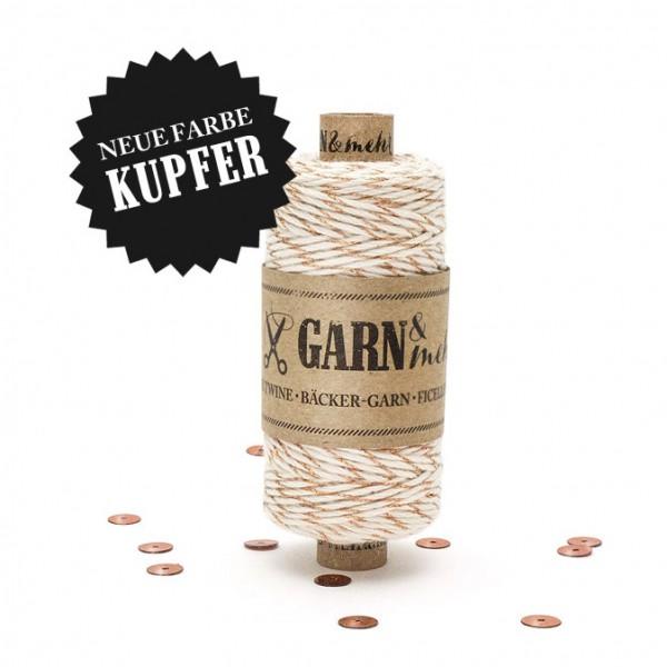 Bäcker-Garn Kupfer-Naturweiss