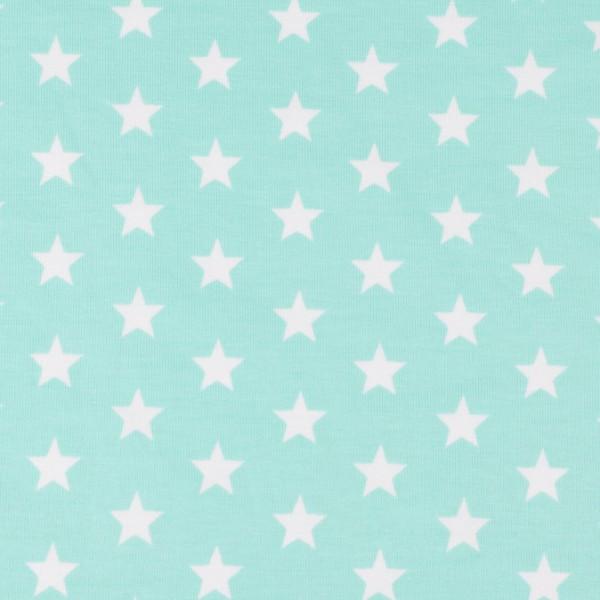 Jersey Sterne mint, Öko Tex Standard 100