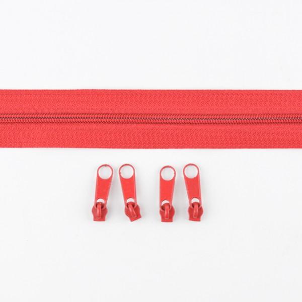 Endlos-Reißverschluss rot