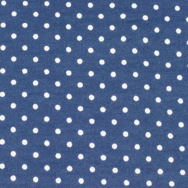 Jersey Punkte blau, Öko Tex Standard 100