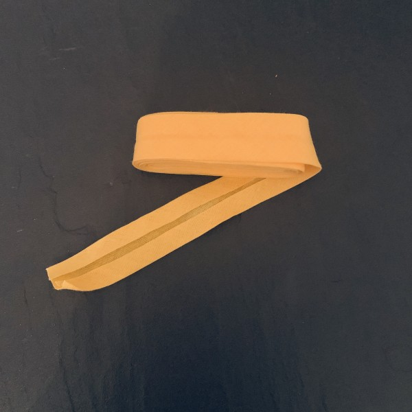 Schrägband uni gelb