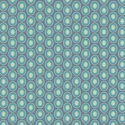 Baumwolle Oval Elements - Vintage Blue