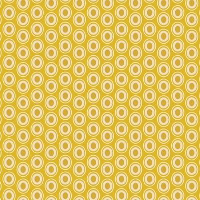 Baumwolle Oval Elements - Golden