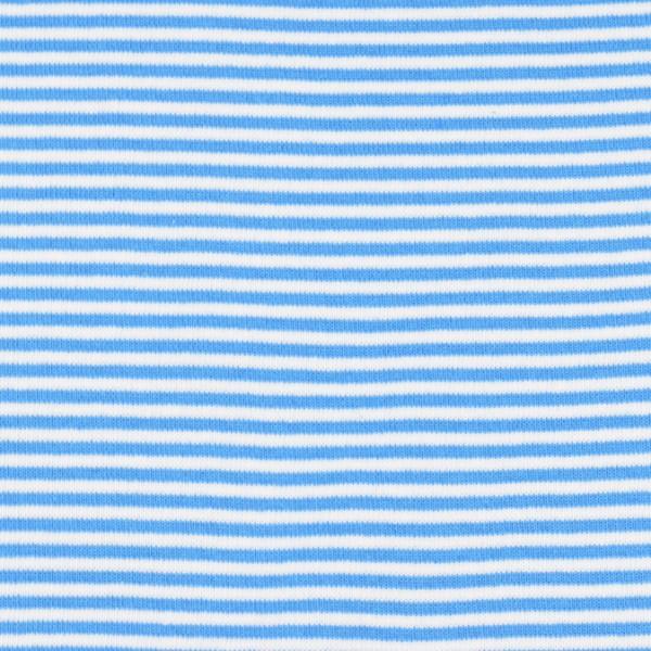 Bündchenware ringel hellblau/weiß , Öko Tex Standard 100