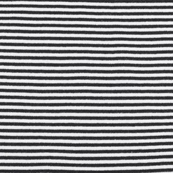 Bündchenware ringel schwarz/weiß, Öko Tex Standard 100