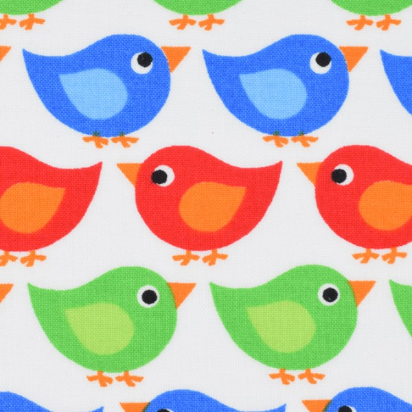 Westfalenstoffe Junge Linie Vogel bunt EU-Spielzeugrichtlinie EN 71 Teil 3