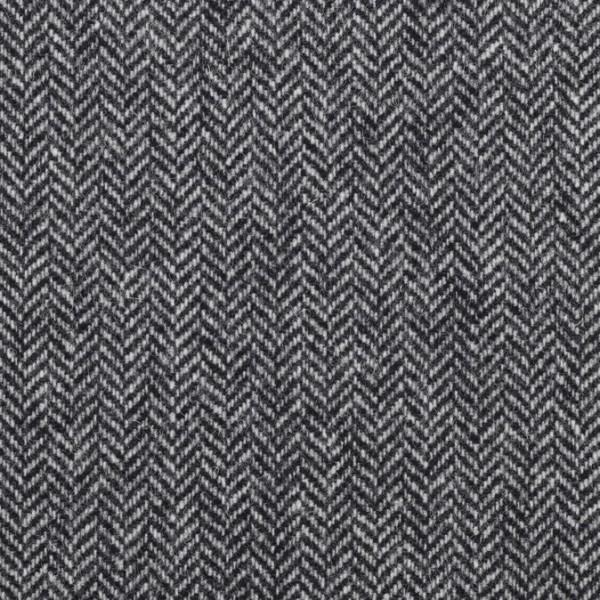 Massimo **Made in Italy**, Tweed, Fischgrät, schwarz
